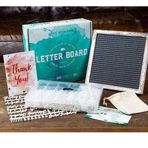 10x10 Rustic White Felt Letterboard